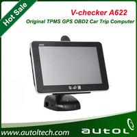 OBD2 Diagnostic Scanner V-checker A622 universal car trip computer Supports multi languages
