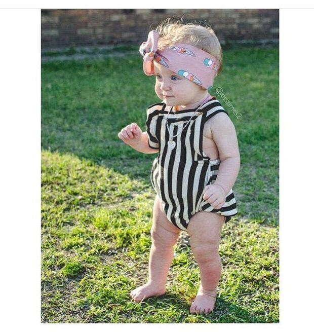 Kids Romper Children Clothes 2016 Summer Black&White Stripe Baby Leotard Straps Bodysuits all-in-ones Child Jumpsuits .