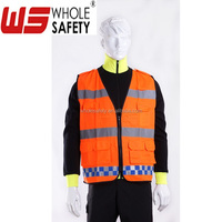 high visibility safety vest for highway worker