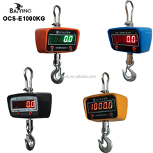 1000 kg 2205 lb Aluminum Digital Crane Scales Heavy Duty Hanging Scale Smart Type LED Module Display