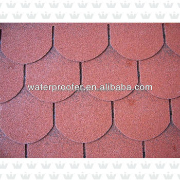 Roofing Asphalt Red 3-Tab Shingle