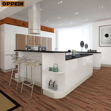 Thailand Project Modern Cabinet White Lacquer Kitchen Design Layout