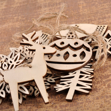 Eco- friendly wooden hanging crafts handmade wooden christmas deer ornaments