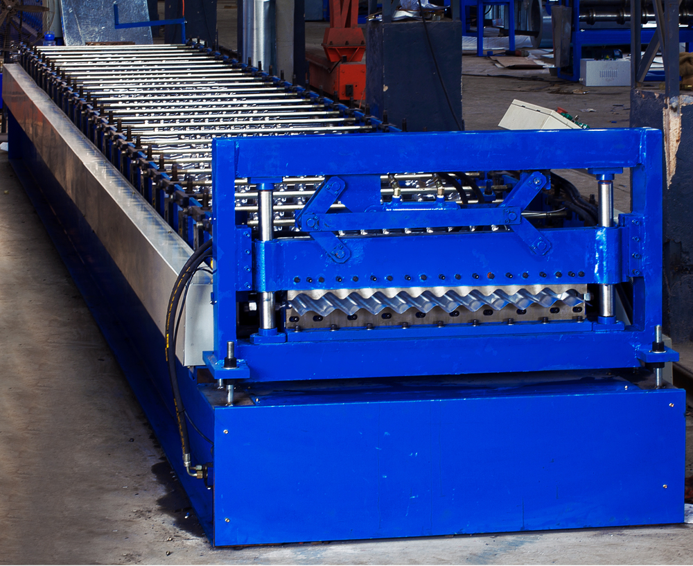 High tensile thin barrel tile corrugated sheet panel roll forming machine