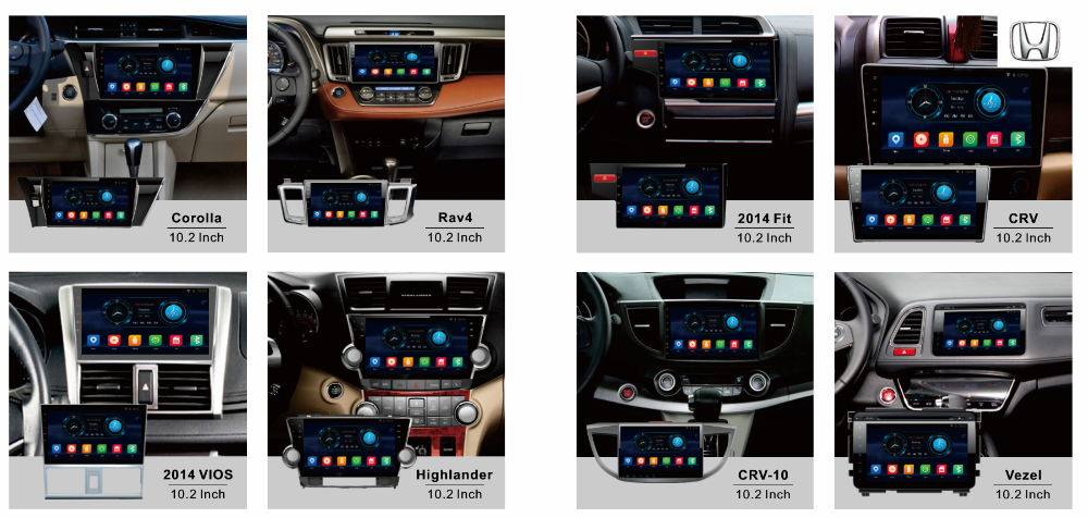Android 5.1 system 1.2 inch screen 4 core A9 Android car radio for Toyota Camry