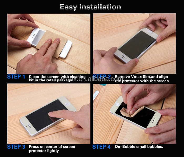 Scratch resistant japan raw material mobile phone screen protector for iphone 7