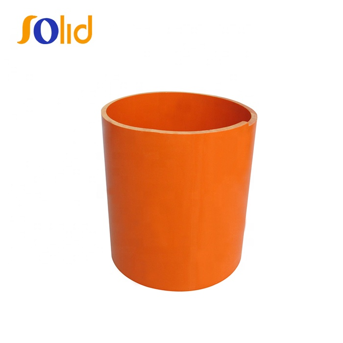 Colored Orange PVC Electrical Conduit Pipe