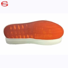Synthetic rubber outsoles for making urban skate shoes