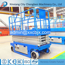 Steady Moving Trailing Scissor Lift with 300 kg or More