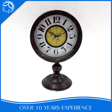 Art Living Room Round Wrought Iron Table Clock For Promotion Gift