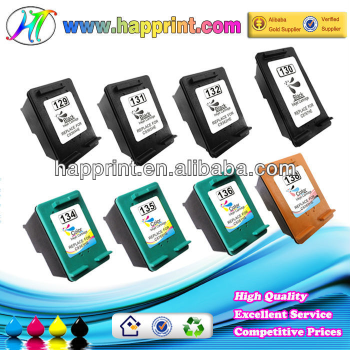 ink cartridge for HP 129 138 130 134 131 135 132 136 for HP printer ink cartridge