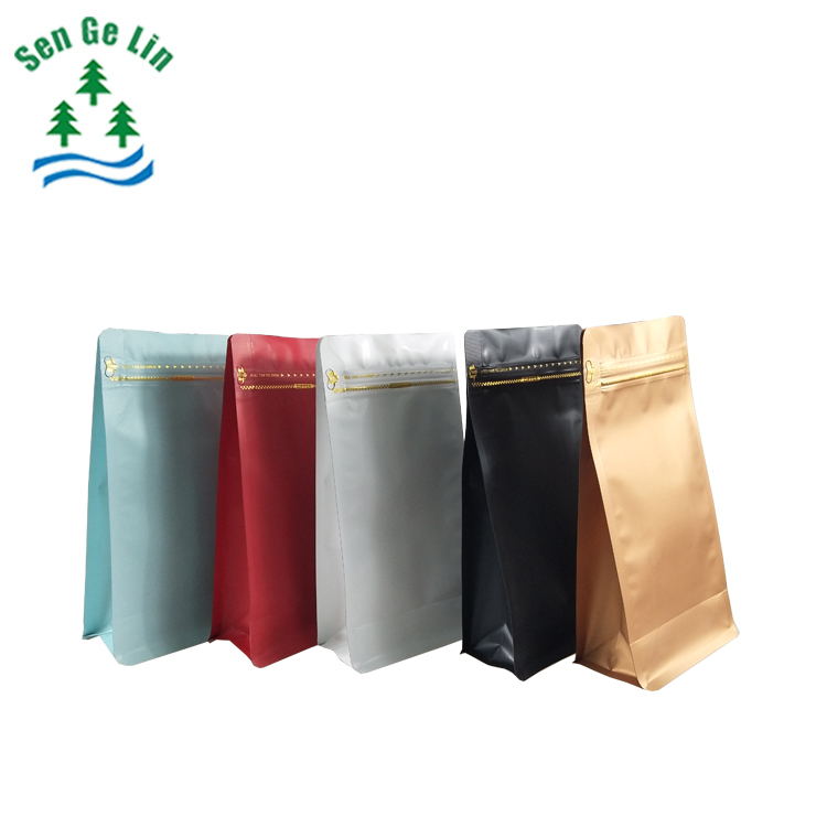 China Supplier Custom Printing colorful Wholesale Aluminum Foil Flat Bottom plastic Packaging Bag