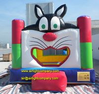 New product inflatable cat bounce house, custom inflatable trampoline
