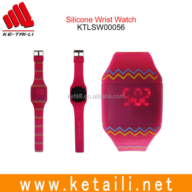 High quality liquid silicone rubber fluororubber LED digital watch band and strap with free samples available