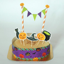 trending hot products funny cake topper for Halloween happy birthday paper cake decoration supplies