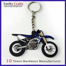 Custom Made Rubber 3d pvc motorcycle keychain keyrings for gift
