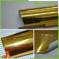 Good quality bubble free chrome and gold and silver perforated vinyl