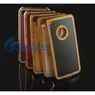 Luxury Hard Protection Diamond Crystal Back Phone Case Cover For iPhone 4G