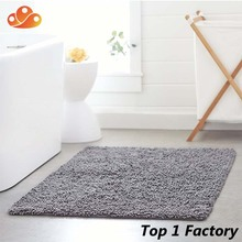 Absorbent Microfiber Soft Shaggy spaghetti backed rubber bathroom rug