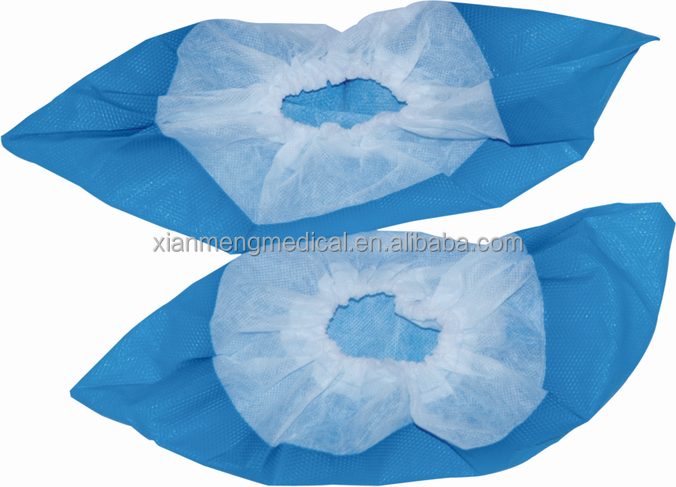 Wholesale cheap disposable non woven PP blue shoe cover for bowling