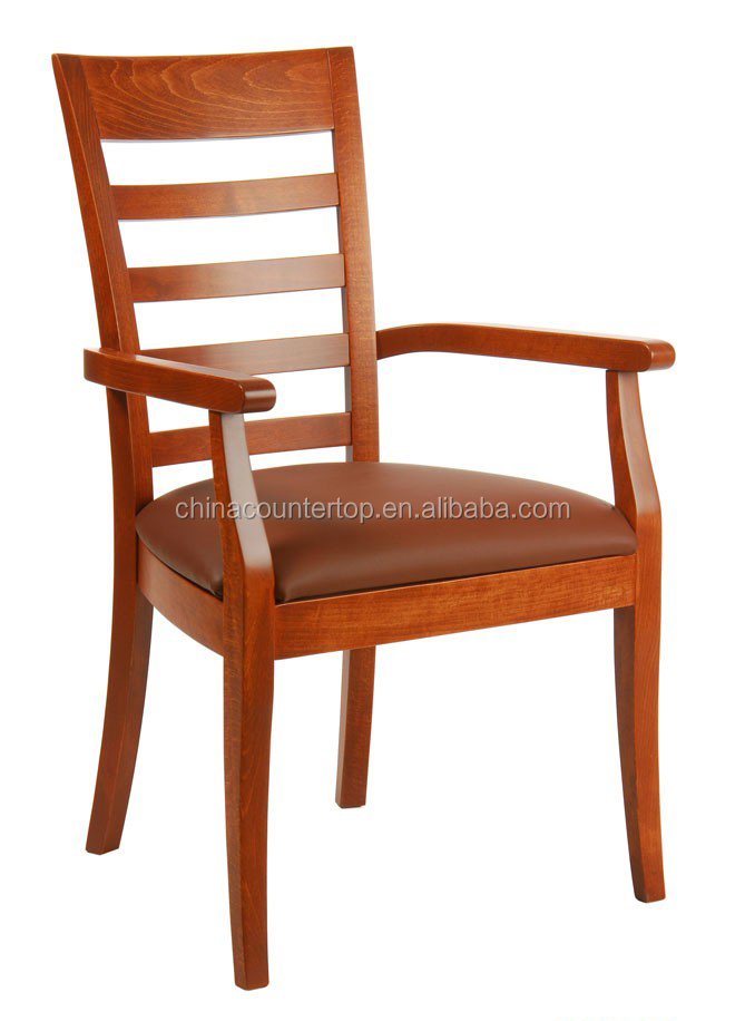 Solid Wood Furniture Chair with Arm Rest for JW Marriott Hotel