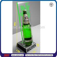 TSD-A381 custom acrylic led bottle display,counter top wine led bottle glorifier display stand