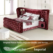 Red Fabric Bed Frame Music Bed EA1155