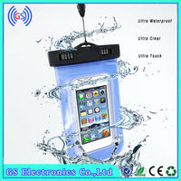 Clear Transparent Carrying pvc phone waterproof case with Secure Neck Strap