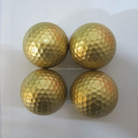 Golden and silver color promotional golf ball