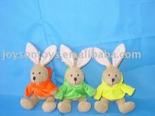 rabbit shapeed stuffed animal plush toy with clothes