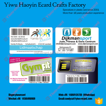 VIP Card with barcode UV printing PVC plastic cards manufacture in china