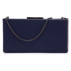 New Arrival Handbag PU Shoulder Bag Metal Frame Clutch Box Hard Shell Clutch Bag