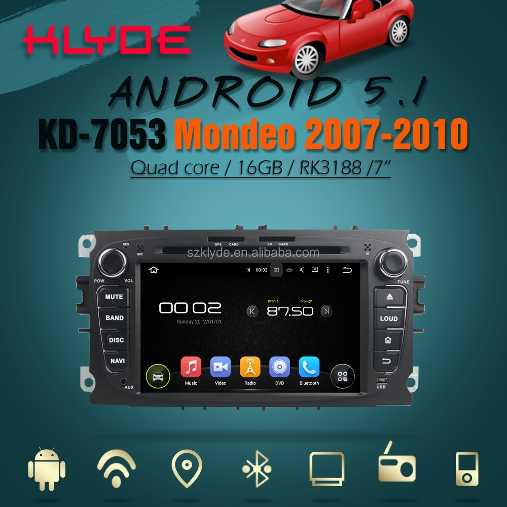 Android 5.1 quad core car dvd player for Tourneo Connect with GPS BT TV wifi 3G/4G SWC mirror link 12 months warranty