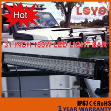 china factory wholesale 12v car led light bar for offroad IP67 CE RoHs led bar 180w led off road led light bar