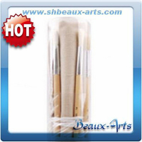 Bristle brush roll set with plastic tube paint brush price