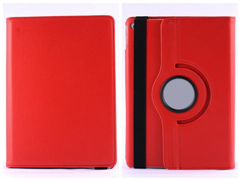 "Stocks Retail 360 Degree Rotate Leather PU Case For iPad air2 9.7"" PU Smart Case Cover"