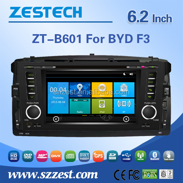 for byd f3 car dvd player built in GPS navigation with radio/audio/bluetooth/3g/mp3/mp4