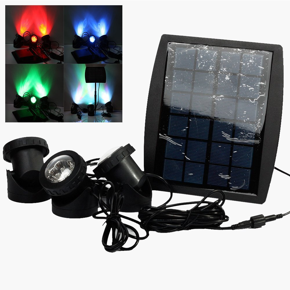 Outdoor underwater solar light for garden IP68 RGB Spotlight fordecoration