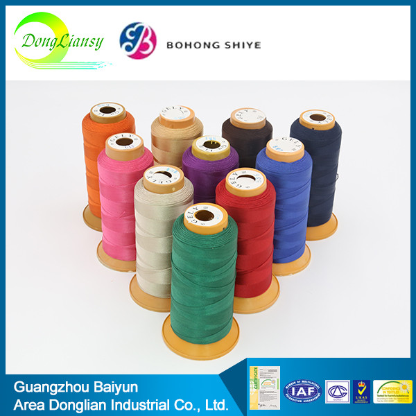 Good 100% cotton yarn dyed fabric sewing thread color card price