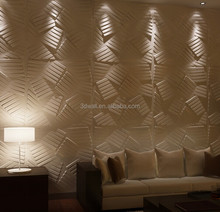 China supplier deep embossed panel effect wallpaper 3d beautiful wall papers