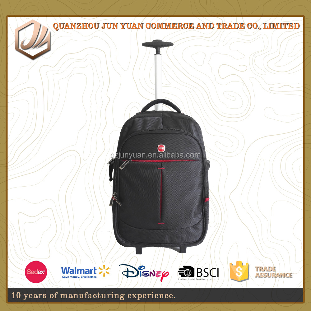 High quality big capacity laptop comaprtment business trolley bags with wheels