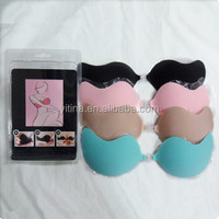 Top selling Seamless Colorful Deep V-shaped Daily used Silicone Invisible Bra Pad