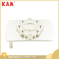 High quality white silver cheap metal belt buckle with complicated pattern