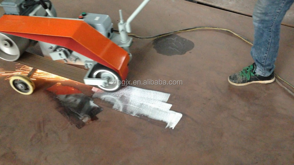 Hand push polishing machine for welding