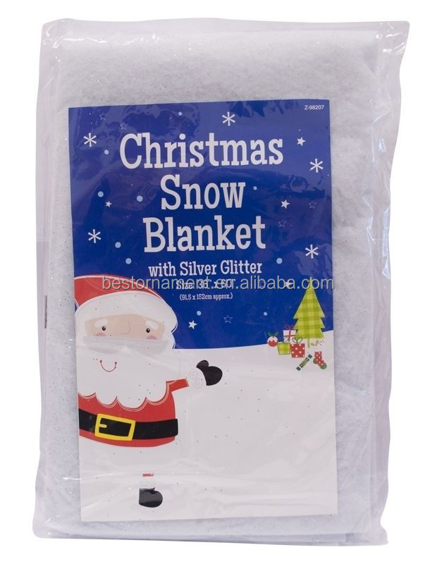 Snow Blanket Glitter Christmas Decoration Artificial Fake Snow