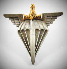 Custom Pilot Wings Badge 3D Antique Wing Badge Indian Swords Badge