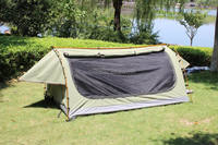 Aluminum pole material canvas swag outdoor sports canvas camping sleep swag grounding tents