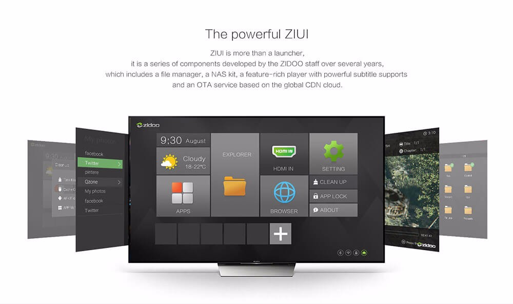 In Stock! ZIDOO X9S TV BOX Android 6.0 + OpenWRT(NAS) Realtek RTD1295 2G/16G 802.11ac WIFI Bluetooth 1000M LAN Media Player