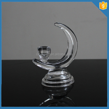 Moon shaped wedding wholesale glass taper candle holders