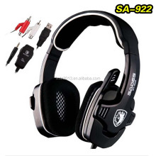 Sades SA-922 Multi-Platform Pro Gaming Headset Headphone Hidden Mic For PC PS3 Xbox360